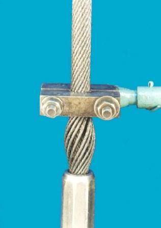 ب- درانتهای طناب، نزدیک به محل اتصال ترمینال ( بدون کشیدگی) ادامه شکل پ – 1 – بازرسی درونی