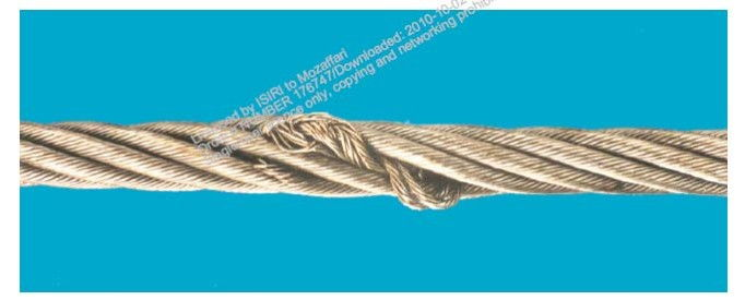 شکل ب -2 – برآمدگی هسته – طناب های تک لایه