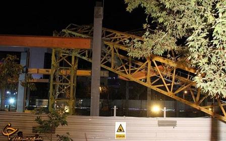 عکس سقوط جرثقیل برجی