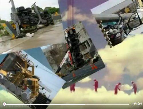 فیلم حادثه سقوط تاورکرین و جرثقیل